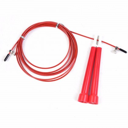 3M Adjustable High Speed Steel Wire Cable Jump Rope Skipping Rope with Metal Ball Bearings in Handles for Exercise Boxing Fitness Gym Crossfit