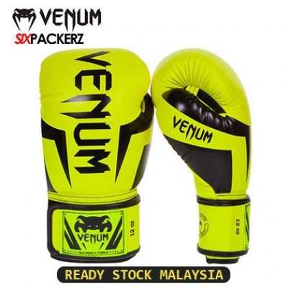 [READY STOCK] VENUM Professional Boxing Muay Thai Training Punching Bag Gloves 12oz-BLACK