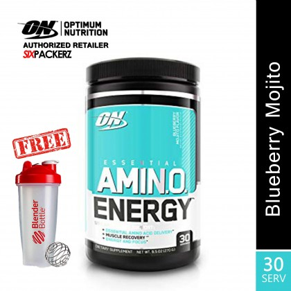 Optimum Nutrition Essential Amino Energy, Blueberry Mojito 30 Servings