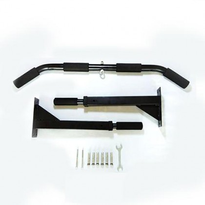 6 Grips Press Wall Mounted Pull Up Chin Up Bar 1 Yr Warranty Iron Gym Door Gym Workout (Black) FREE SERIOUS MASS SAMPLE
