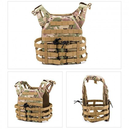 Tactical Vest Equipment outdoor field Hunting Military Vest lightweight Combat Plate Carrier Vest - CAMOUFLAGE