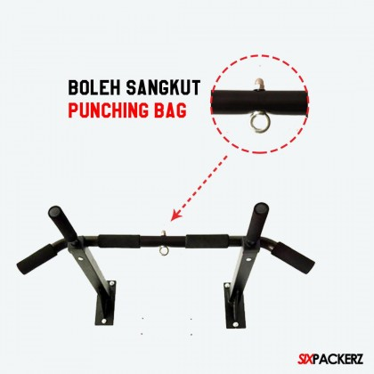 Combo Pack 80CM 100CM 120CM Punching Bag FILLED(SIAP ISI) with Wall Mounted Pull Up Bar  FREE Boxing Gloves and accessories