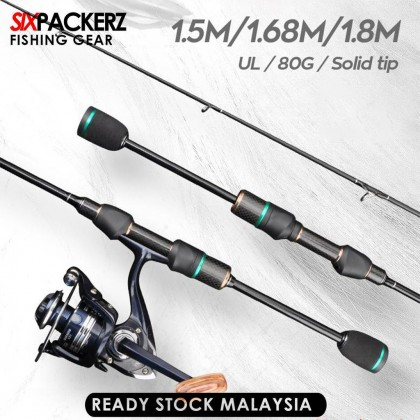 1.5m / 1.68m / 1.8m UL Power Fishing Rod Solid Tip Micro-jigging Rod Ultra Light Spinning Rod Ultralight Baitcasting Rod